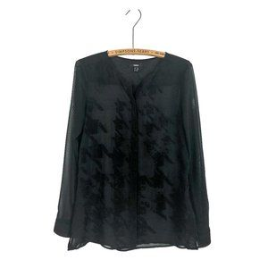 MEXX sheer black button up blouse
